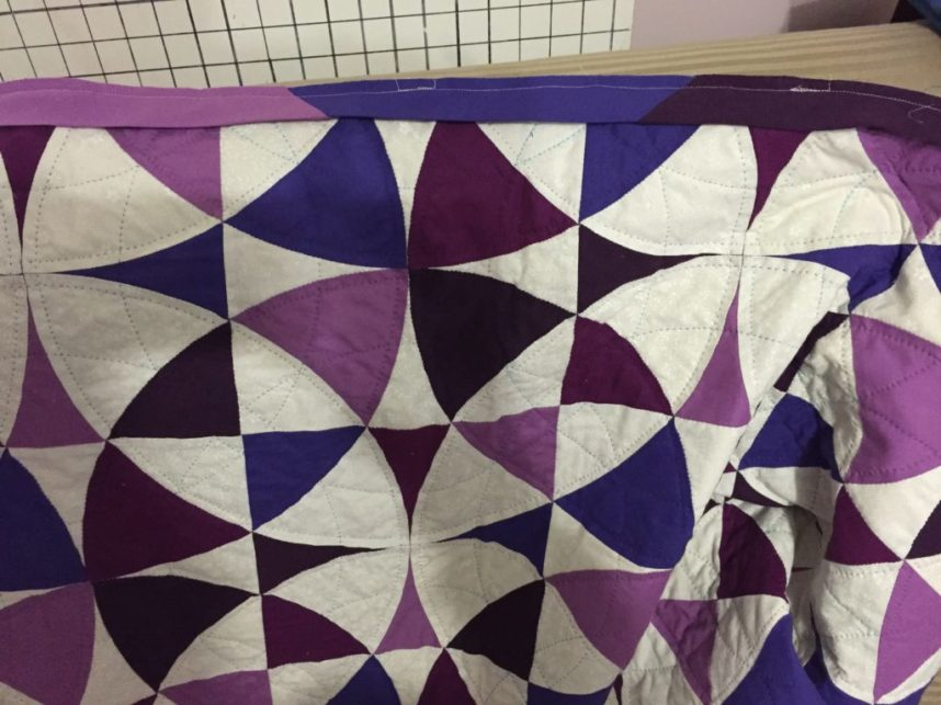Quilting complete!